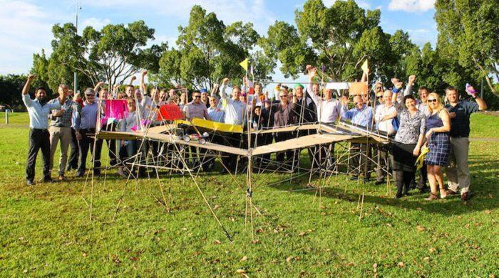 Das Building Bridges-Event eignet sich gut, um das Team zu stärken. © Spielgestalter